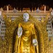 Golden Buddha statue at Burmese Temple, Malaysia — Stock Photo