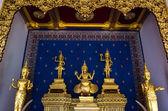 Five buddha statues — Stock Photo