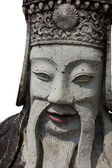 Stone chinese soldier statue — Stock Photo