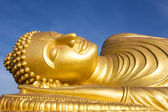 Face of Reclining buddha at thailand — Stock Photo