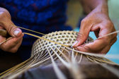 Basket working — Stock Photo