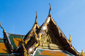 Traditional Thai style art of gable in temple, Thailand — Foto Stock