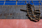 Stairs at the side of a ship — Stock Photo