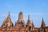 Chaiwatthanaram temple at Ayutthaya in Thailand and most famous  — Stock Photo