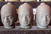 Three Head of buddha statue — Stock Photo