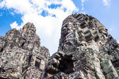 Face towers of Buddha in Bayon temple — Stock Photo