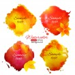 Isolated colorful aquarelle banner — Stock Vector