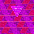Multicolored triangular background — Image vectorielle