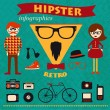 Hipster infographics — Stock Vector #36521011