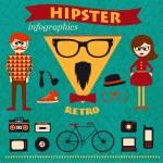 Hipster infographics — Stok Vektör