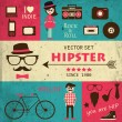 Hipster infographics. — Stock Vector