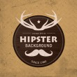 Stock Vector: Hipster background