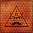 Hipster triangular background — Stock Vector
