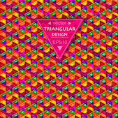 Multicolored triangular background — Stock Vector