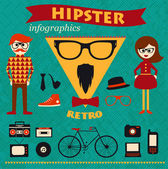 Hipster infographics — Stock Vector