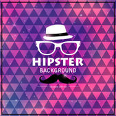 Hipster cosmic triangular background — Stock Vector