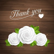Stock Vector: Thank you. Floral background.
