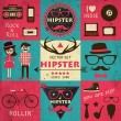 hipster retro infographics — Stock Vector