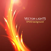 Abstract bright cosmic background with blurred light rays. Vector illustration — Stock Vector