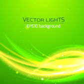Abstract bright cosmic background with blurred light rays — Stock Vector
