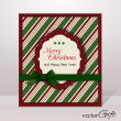 Christmas greeting card — Stock Vector