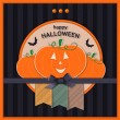 Happy halloween greeting card — Stock Vector