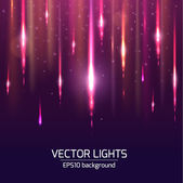 Abstract bright cosmic background with blurred light rays. Vector illustration. — Stock Vector