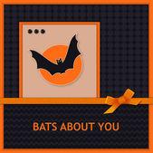 Halloween gratulationskort — Stockvektor