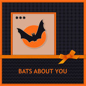 Halloween greeting card — Vettoriale Stock