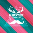 Hipster background for your retro design — Stock Vector