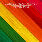 Colorful wooden texture background. — Stock Vector