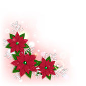 Floral christmas background with a place for text. — Stock Vector