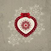 Carte de voeux de Noël — Vecteur
