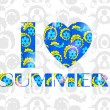I love summer background — 图库矢量图片