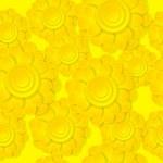 Seamless pattern with yellow paper flowers.  — Stockvektor  #38992043