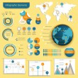 Vector set of infographic elements — Cтоковый вектор