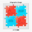 Infographics web design — Stock Vector