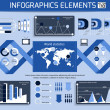 Set of infographics elements. — Vector de stock