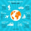 Travel infographics web design. — Stok Vektör