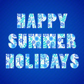 Happy summer holidays background — Stok Vektör