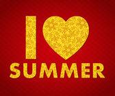 I love summer background — Stock Vector