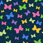 Patrón con muchas mariposas. — Vector de stock