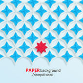 Modern white, blue and red 3d paper design. — Stock Vector