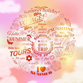 Calligraphic elements for summer design. — Stock Vector