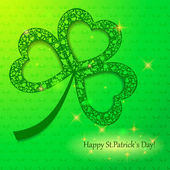 Happy St.Patricks Day greeting card — Stock Vector