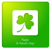 Happy St.Patricks Day paper greeting card. — Stock Vector