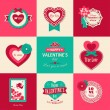 Set of Valentines day typographical backgrounds — Stock Vector #39393069
