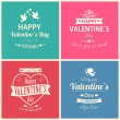 Set of four happy Valentine's day — Stock Vector