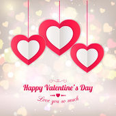 Valentines day typographical background — Stock Vector