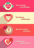 Set of Valentines day — Stock Vector